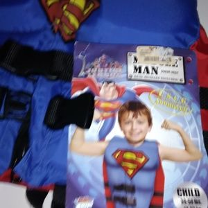 Superman Childs Pfd Life Jacket Swimming, Fun,Pool